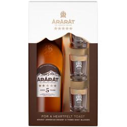 ARARAT BRANDY 5 ANS 0.7L +3 VERRES - PACK DE 6