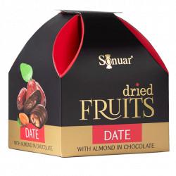 Fruits secs au chocolat N°42 - Sonuar Datte aux amandes au chocolat 150g - Pack de 12