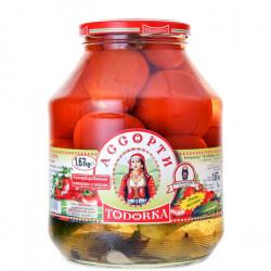 TOMATES ET CORNICHONS MARINE -TODORKA BOCAL 1670G - PACK DE 6