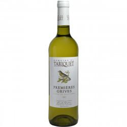 Premiéres Grives-Domaine du Tariquet Côtes de Gascogne-Blanc 75cl - Pack de 6