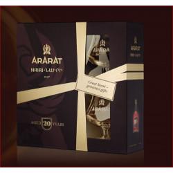 ARARAT BRANDY NAIRI EDITION LIMITÉE+2 VERRES 0.7L - PACK DE 4