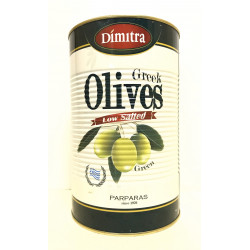 OLIVE VERTES ENTIERES DIMITRA DE GRECE  2500G - PACK DE 1