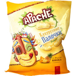 Apache - Bâtonnets de maïs Ananas - 85g - Pack de 10